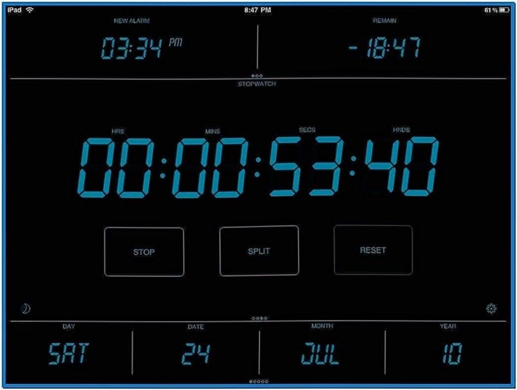 Screensaver Digital Clock With Alarm