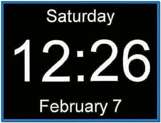 Screensaver Digital Clock With Seconds