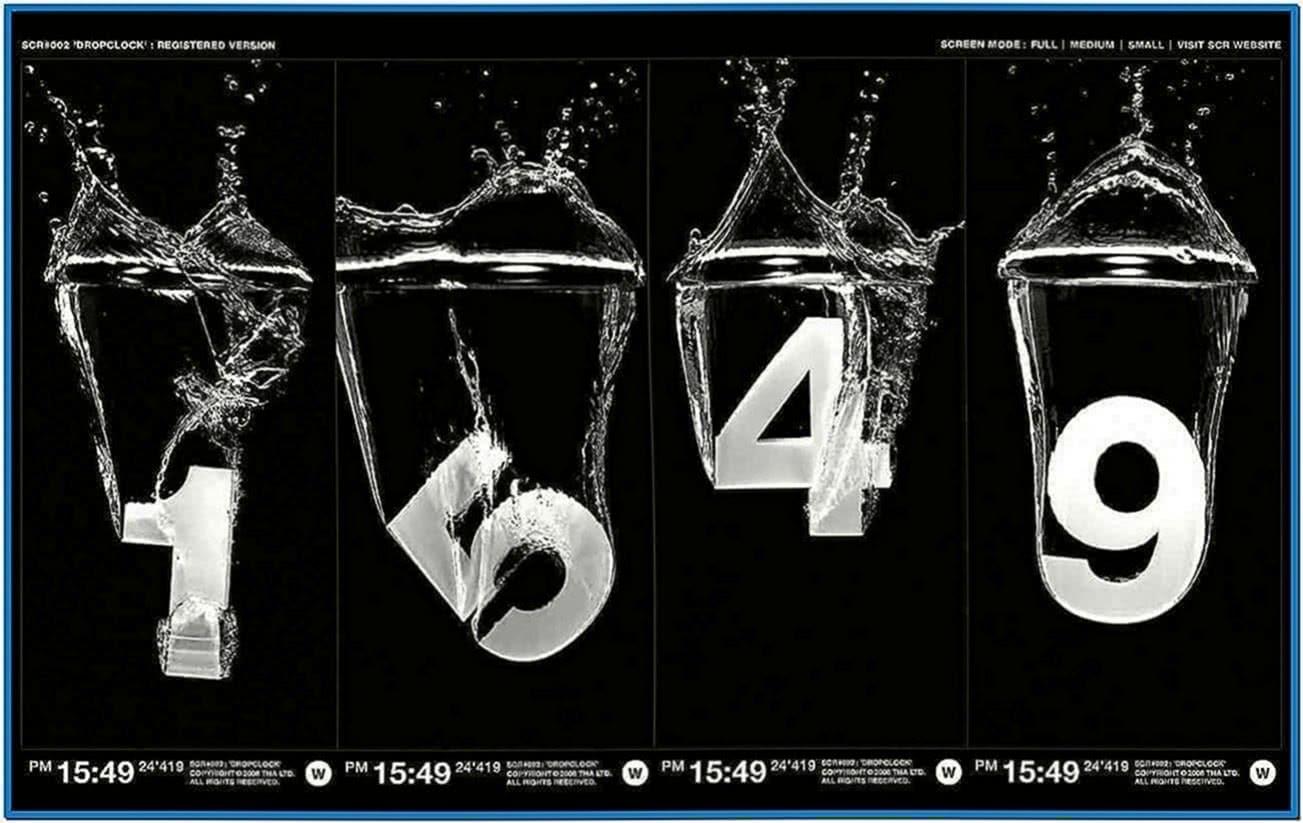 Screensaver Exclusive Dropclock 1.02