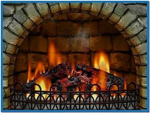 Screensaver Fireplace Burning