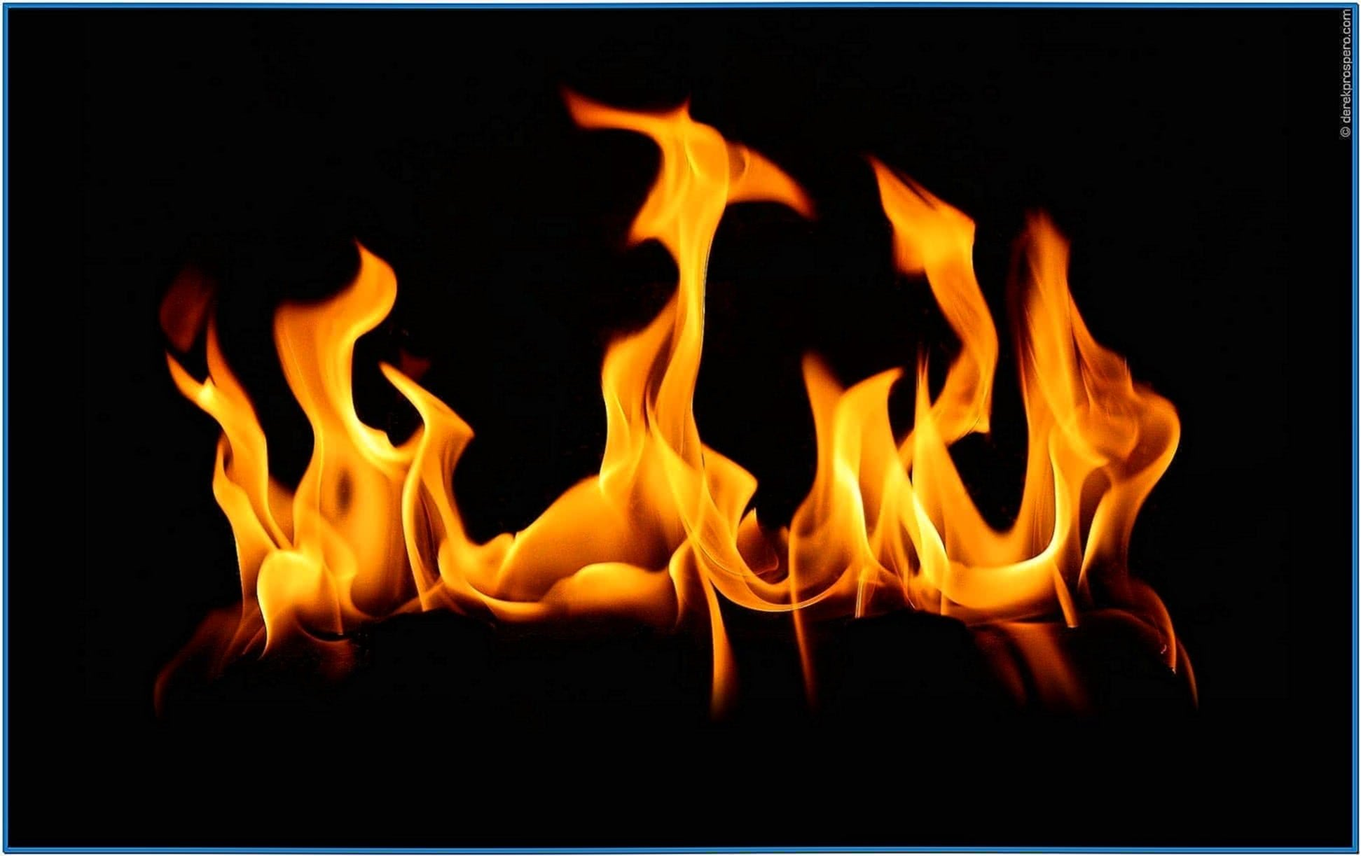 Screensaver Fireplace Flames
