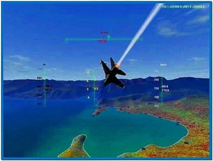 Screensaver Flight Simulator