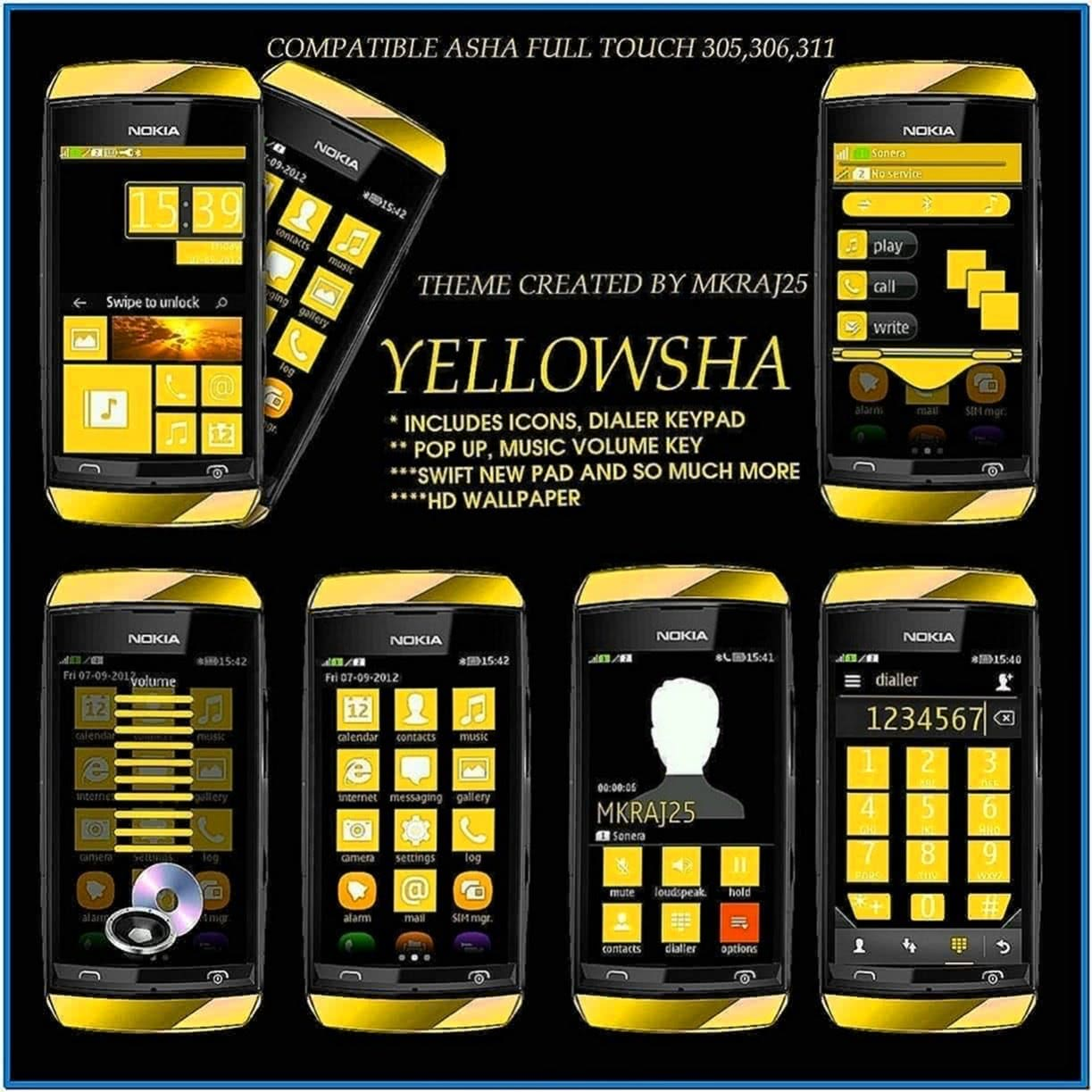 Screensaver for nokia asha 305