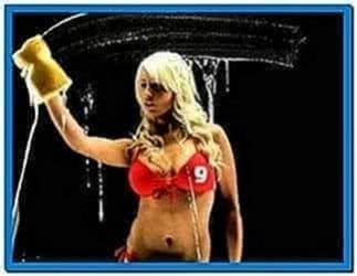 Screensaver Girls Wash Screen