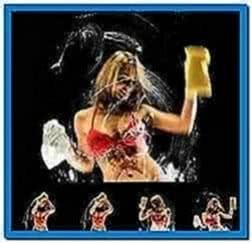 Screensaver girls washing desktop