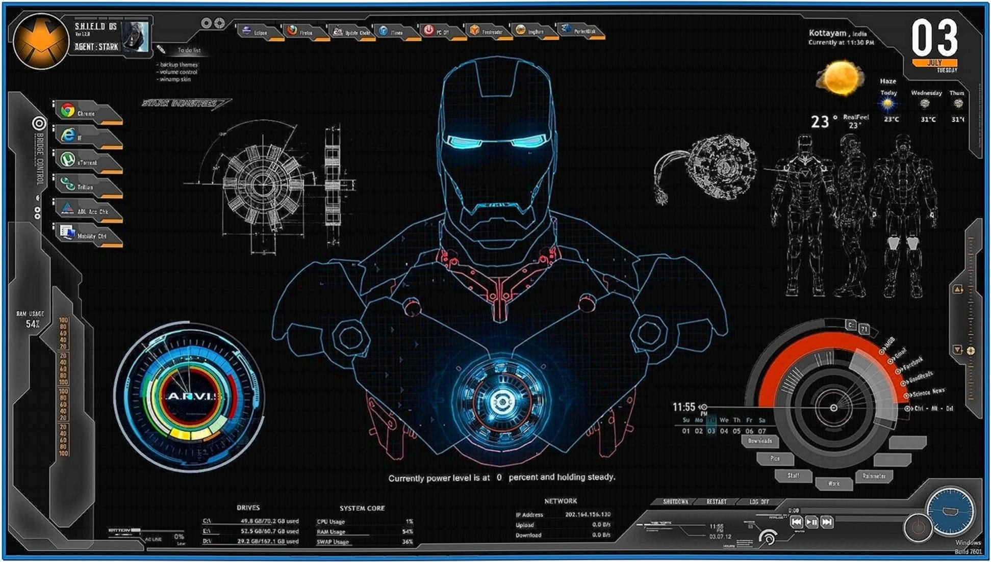 Screensaver jarvis iron man