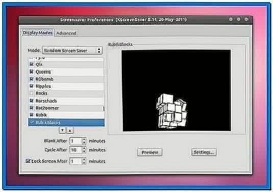 Screensaver Linux Ubuntu 11.10