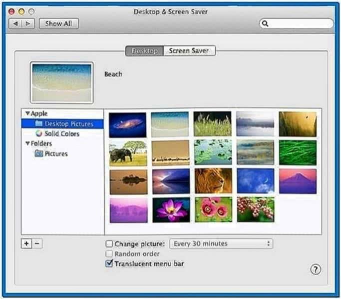 Screensaver lost Mac