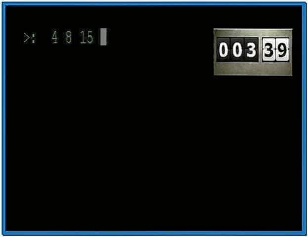 Screensaver lost numbers
