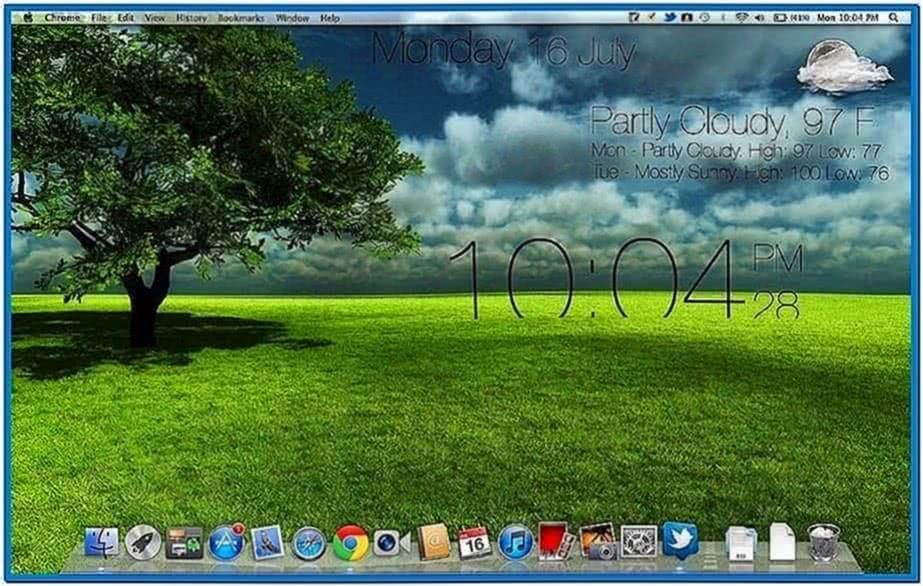 Screensaver Mac Lionclock