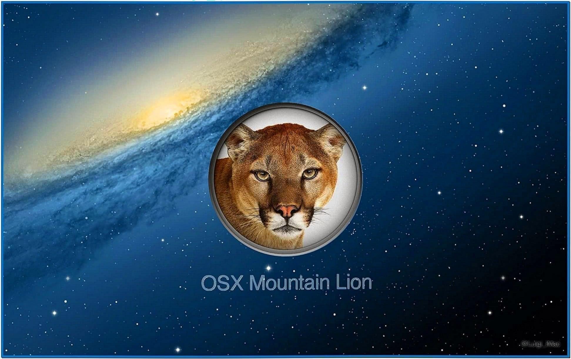 Screensaver Mac Mountain Lion