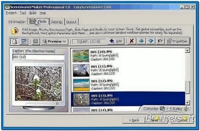 Screensaver maker desktop edition
