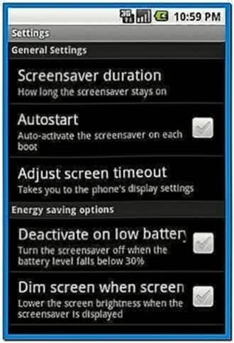 Screensaver Manager Android