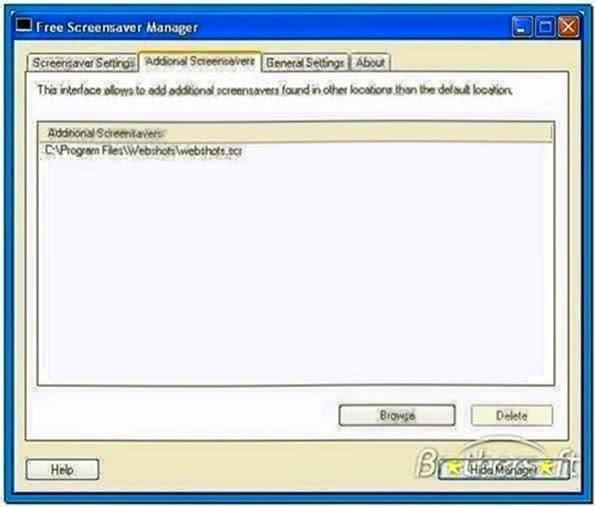 Screensaver Manager Freeware
