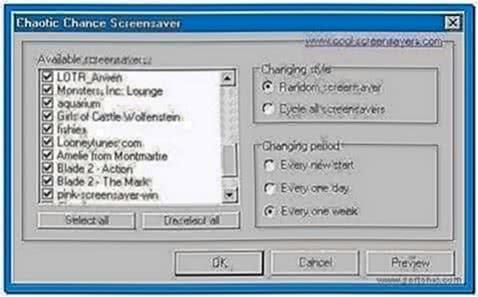Screensaver Manager Windows 7