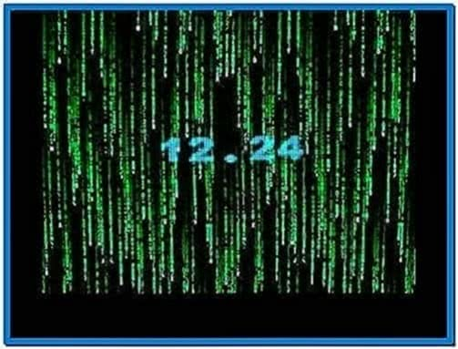 Screensaver Matrix on 3 Screen With Triplehead2go