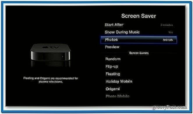 Screensaver Pictures on Apple TV