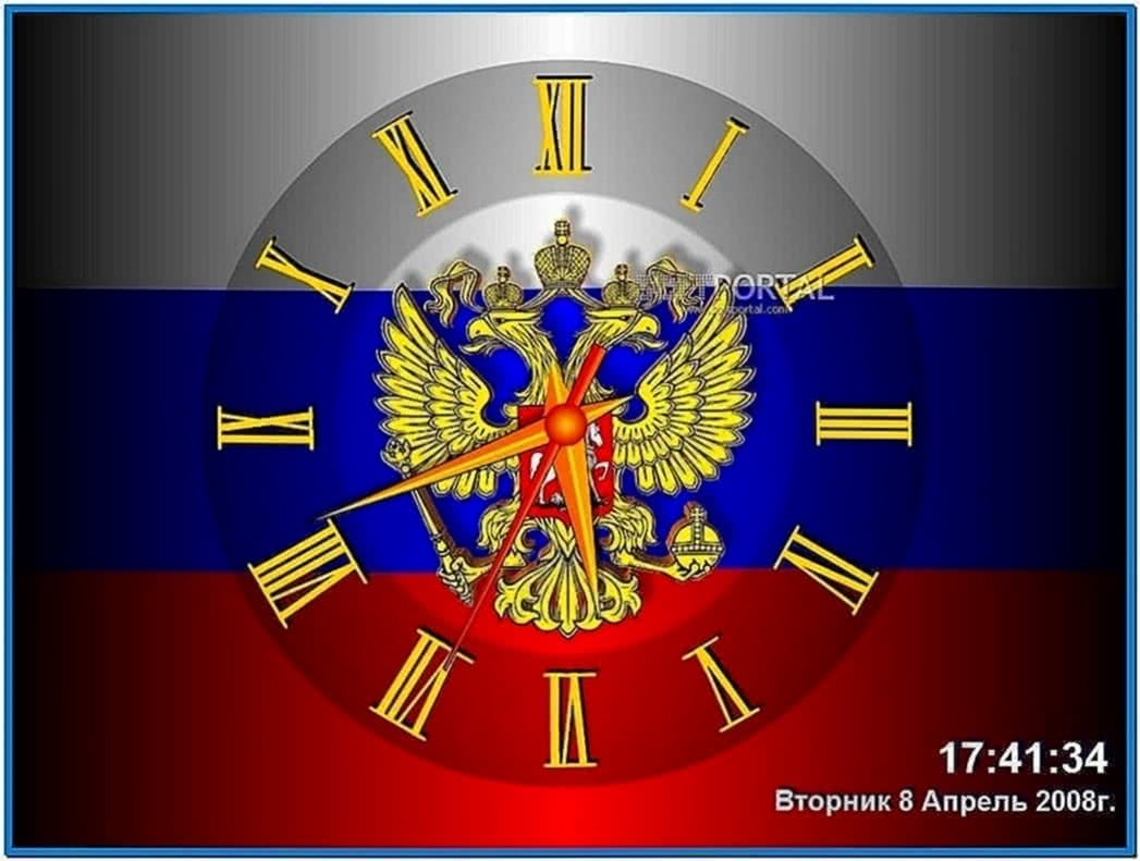Screensaver Russia Clock 2.2