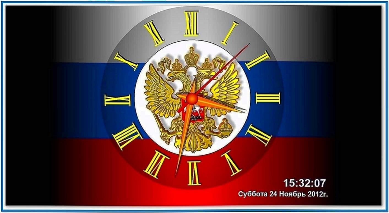 Screensaver russia clock 2.2