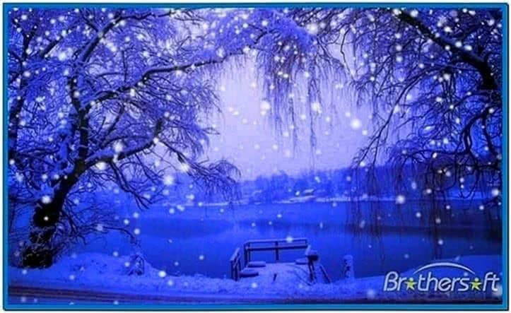 Screensaver Snow Falling