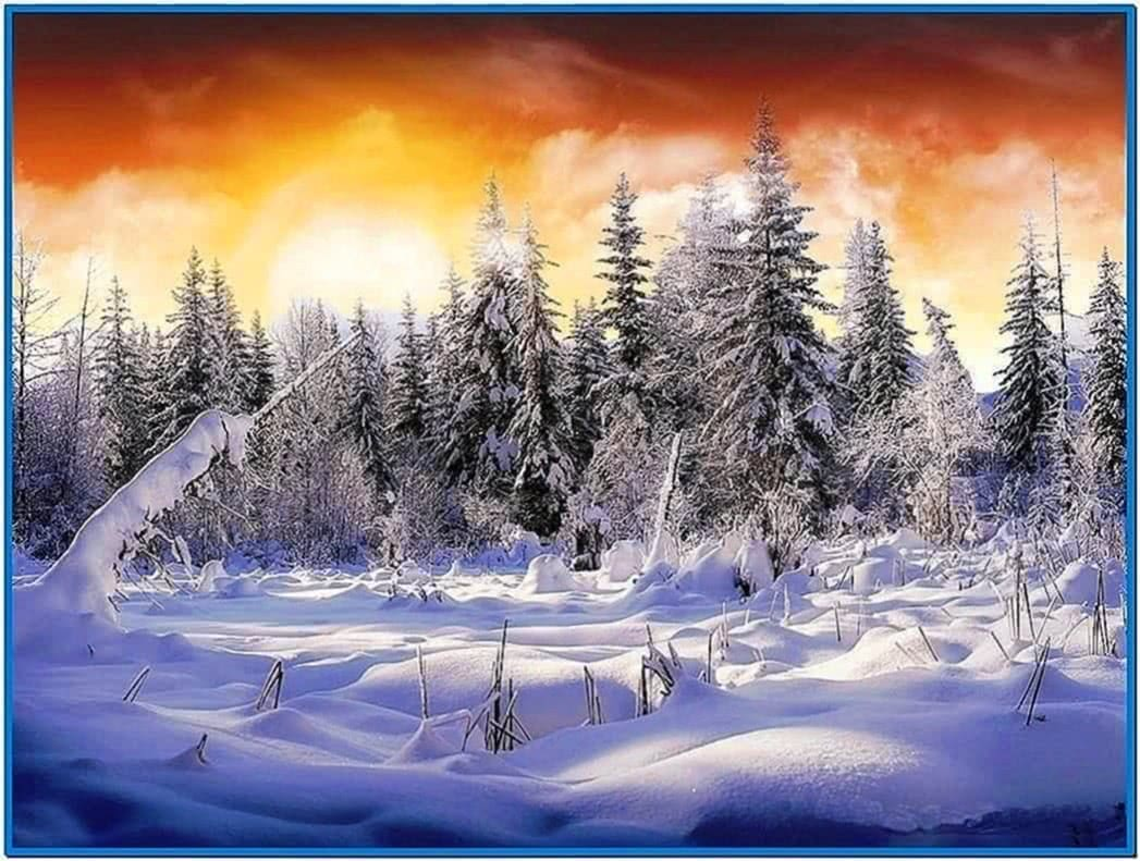 Screensaver Snow Scenes