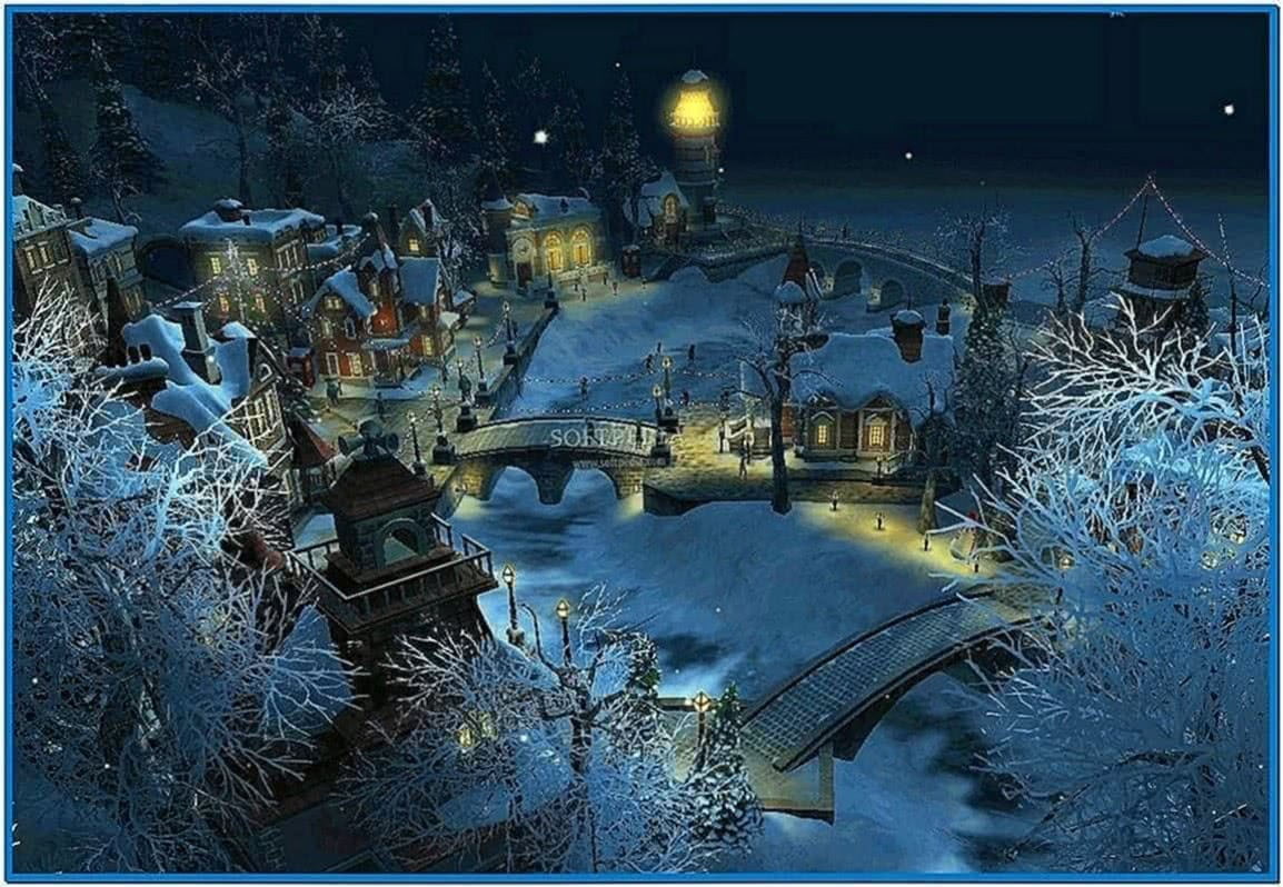 Screensaver Snow Village