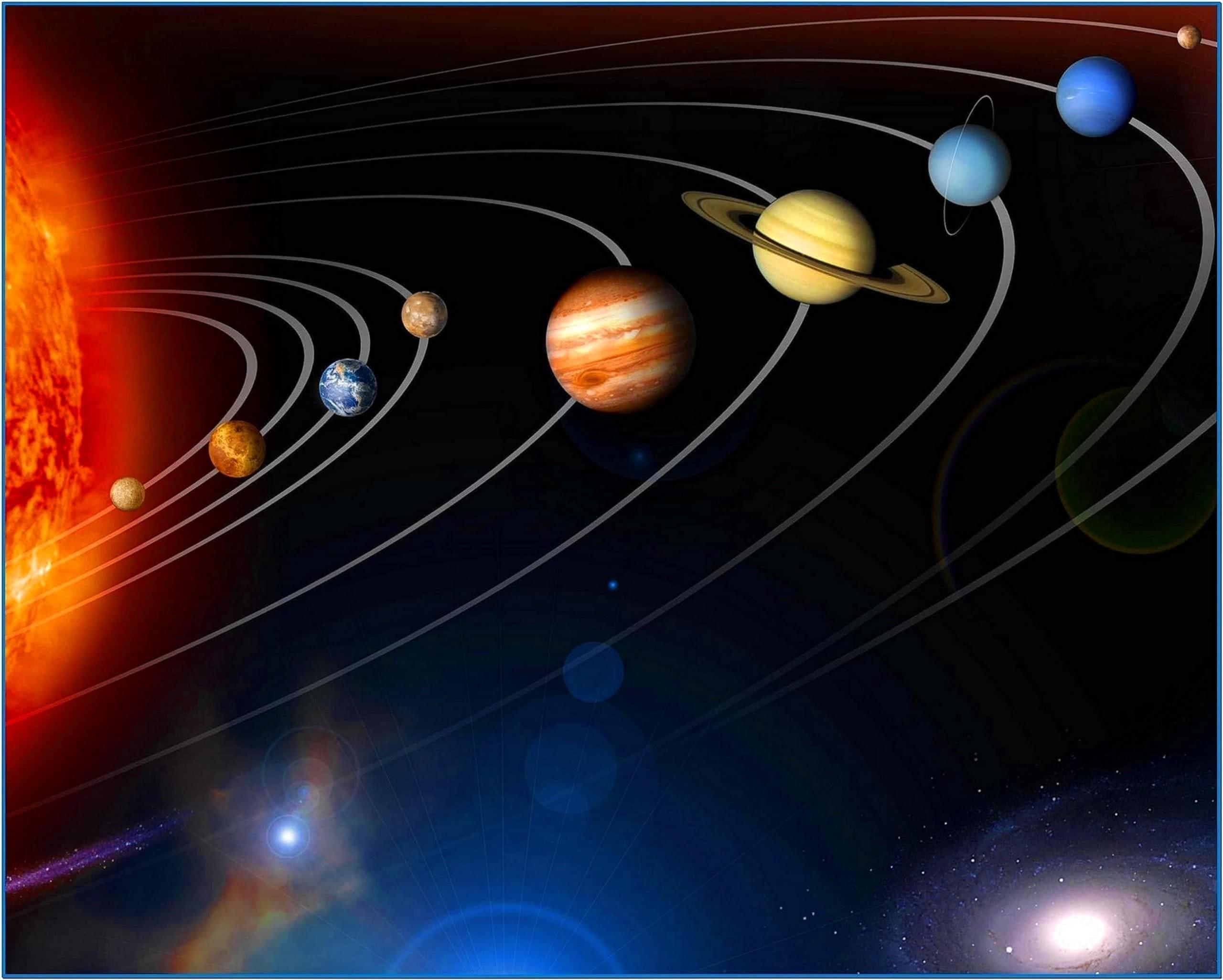 Screensaver Solar Space