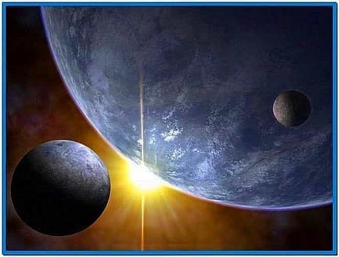Screensaver solar system