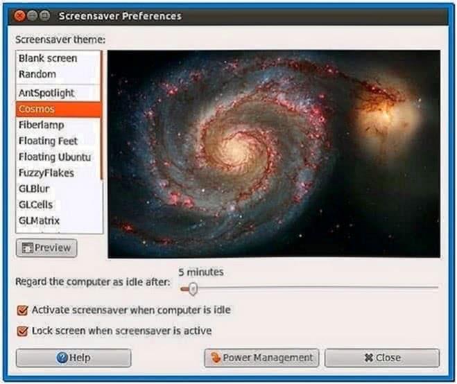 Screensaver ubuntu 11