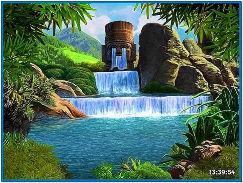 Screensaver water falls