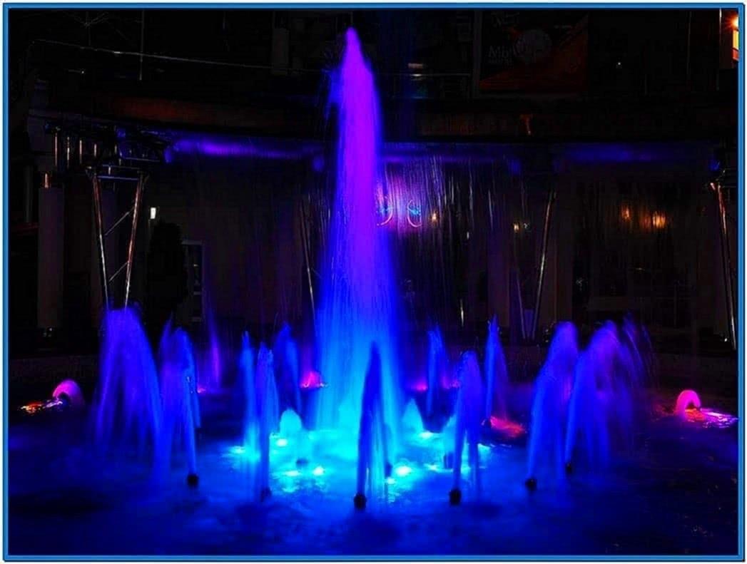 Screensaver water fountain