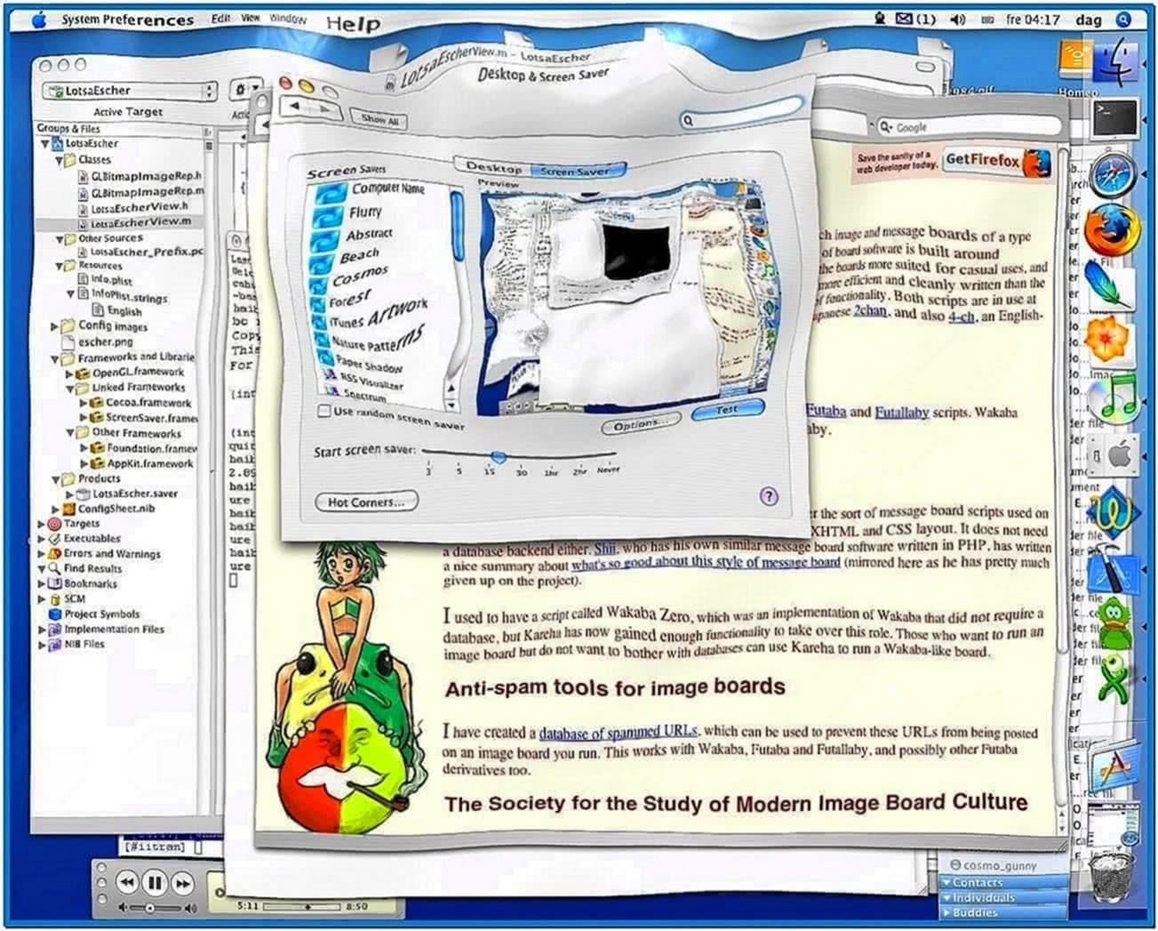 Screensaver water Mac