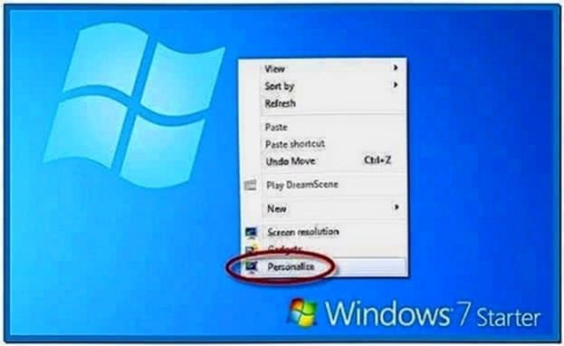 Screensaver Windows 7 Starter Edition