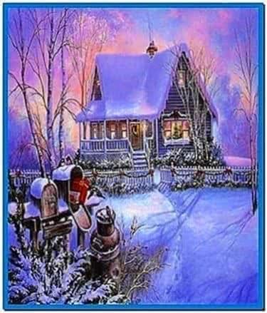 Screensaver Winter Cottage