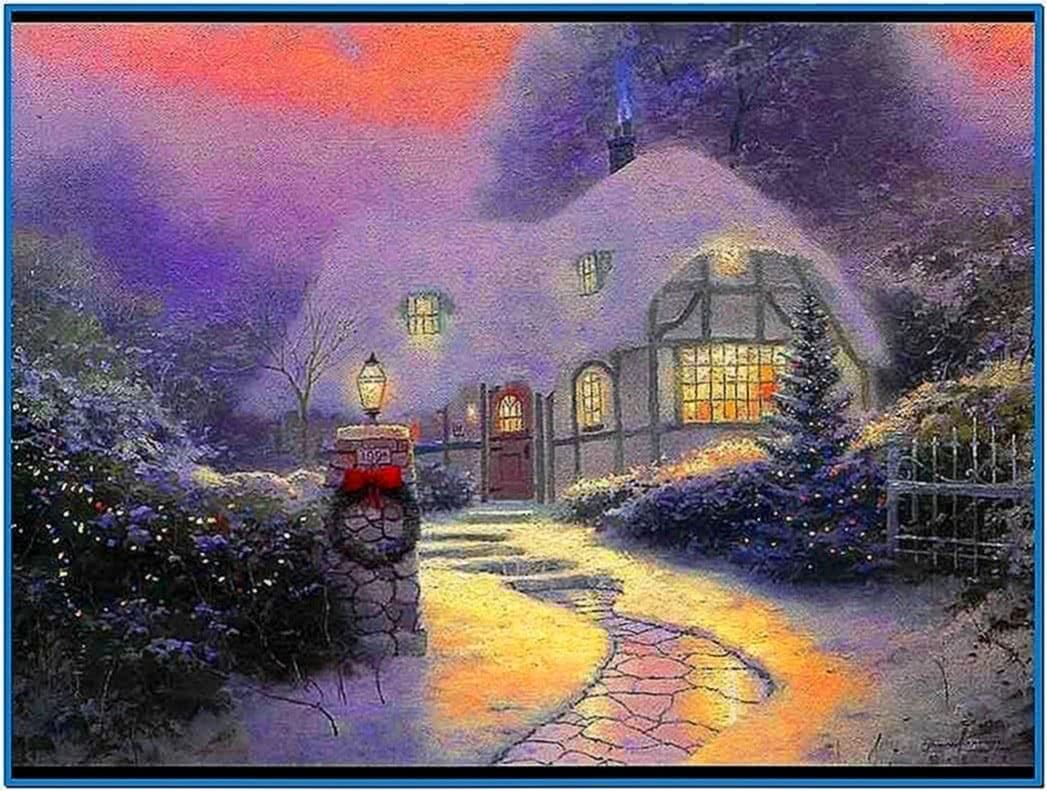 Screensaver Winter Cottage