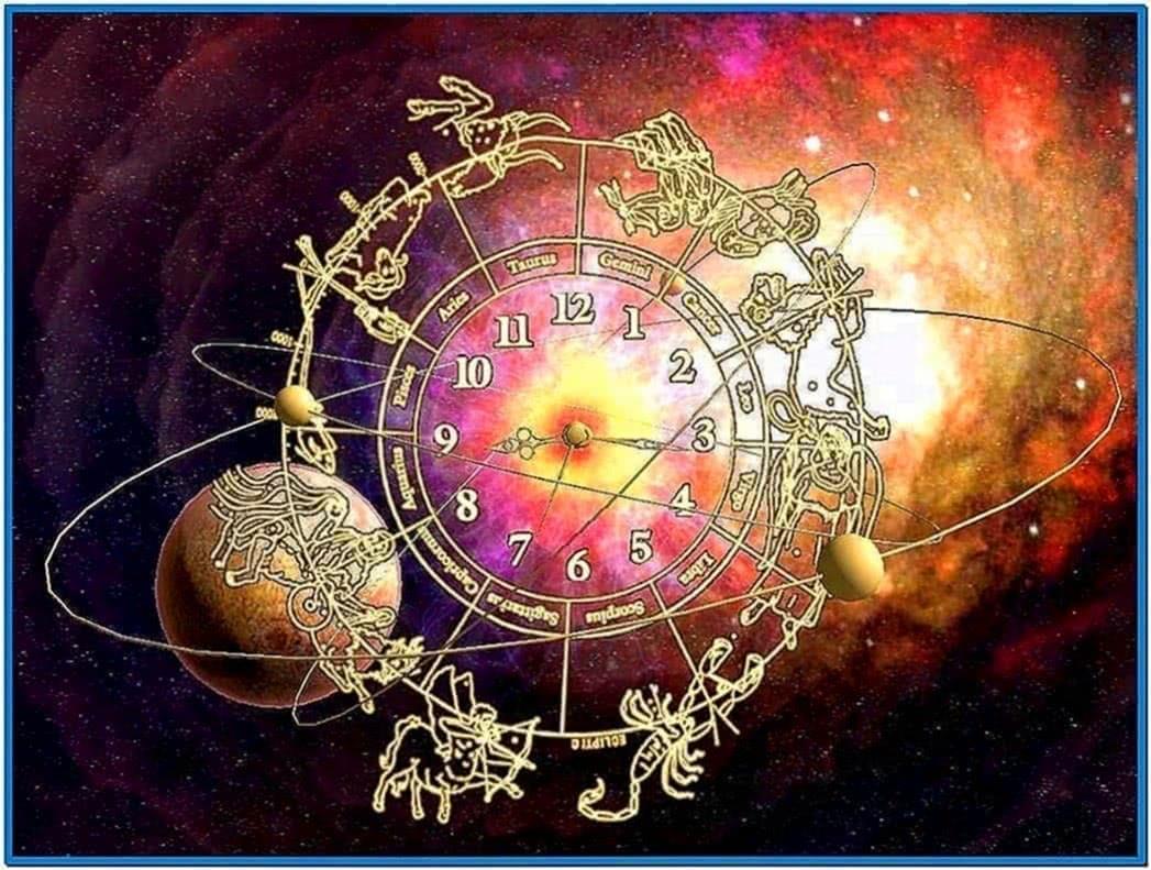 Screensaver Zodiac Clock