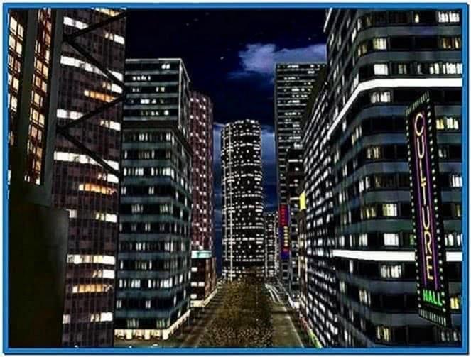 Screensavers 3D City Night