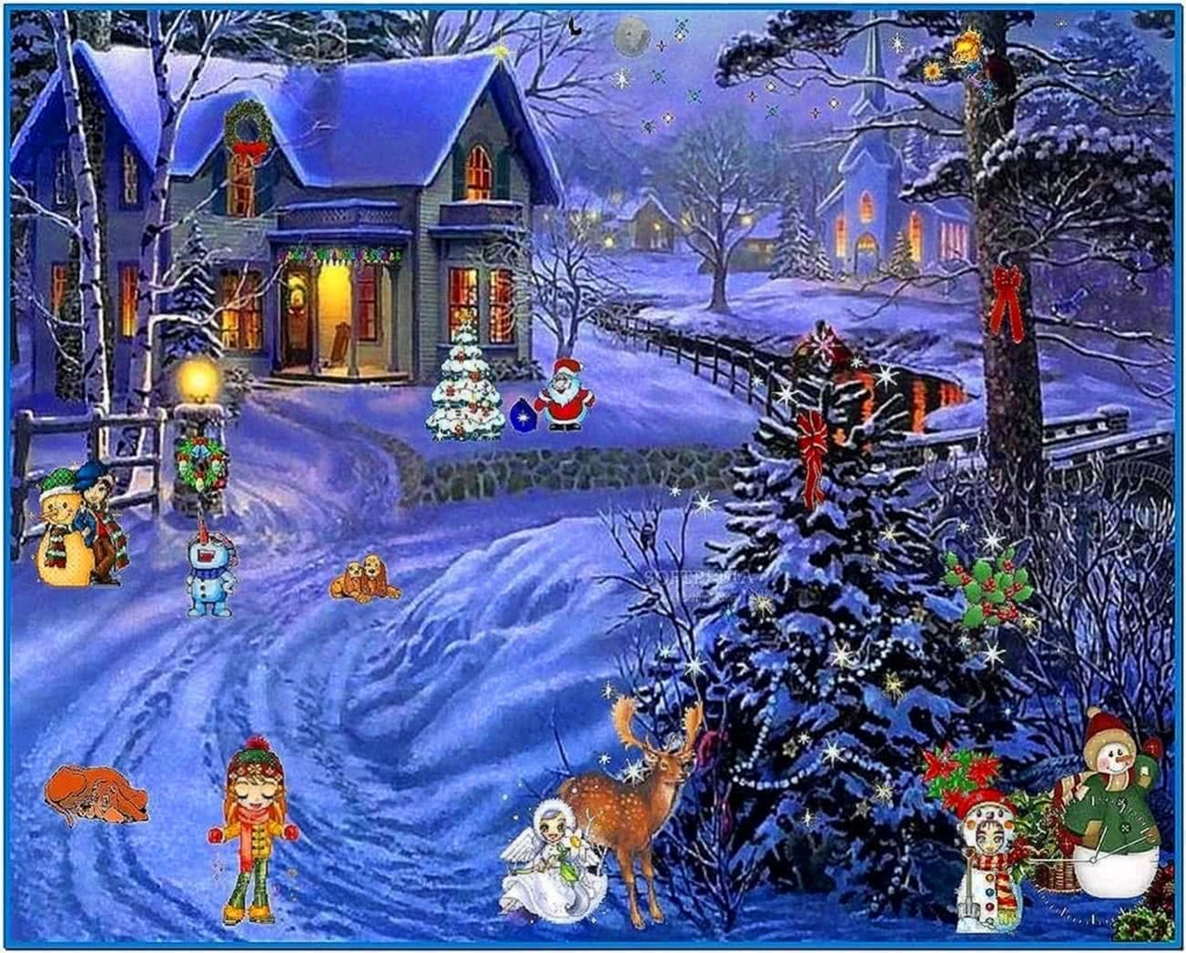 Screensavers Christmas Scenes Download Free
