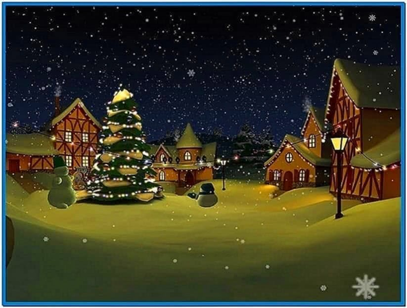 Screensavers christmas snow