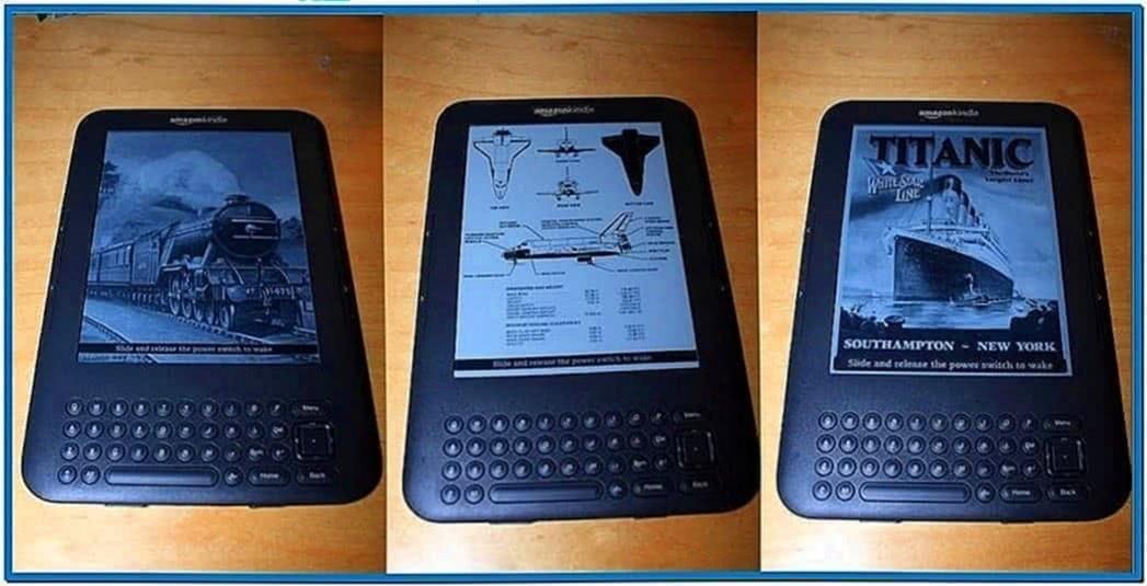 Screensavers for Kindle Keyboard