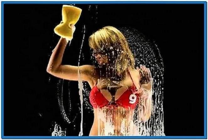 Screensavers Girls Washing Screen