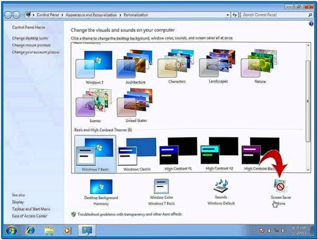 Screensavers pc windows 7 - Download free