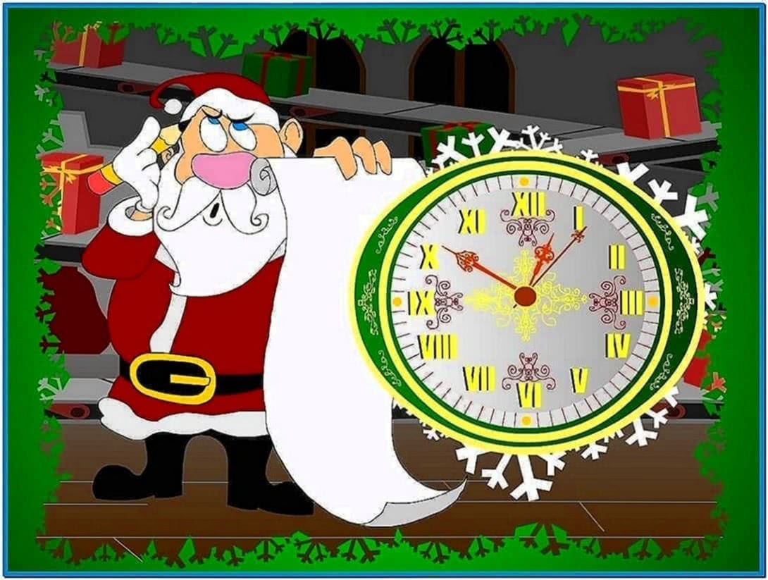 Screensavers Windows 7 christmas countdown