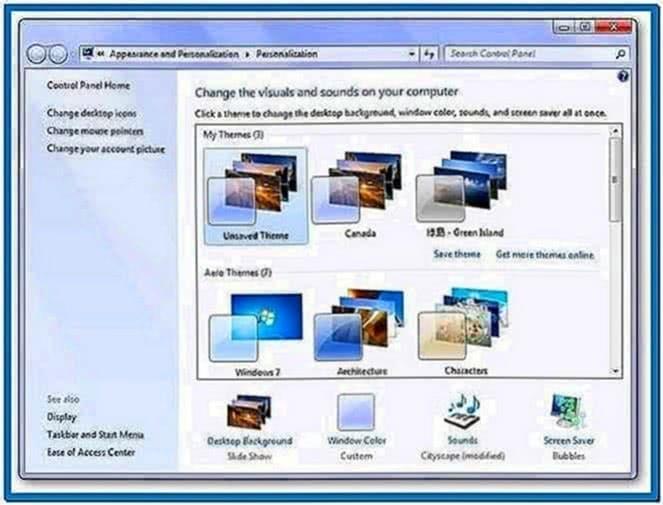 Screensavers Windows 7 Starter Edition