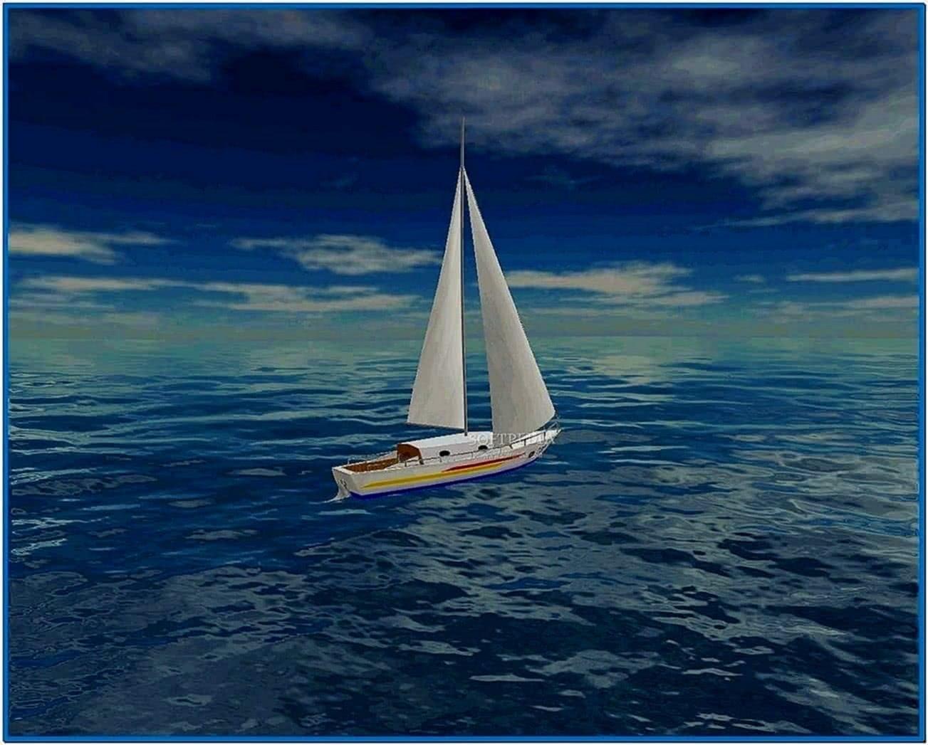 Sea Yacht Cruise 3D Screensaver