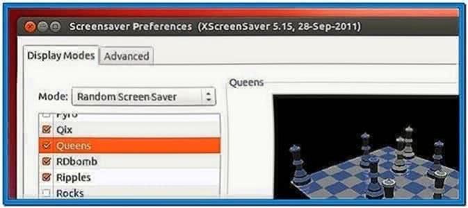 Set Screensaver Ubuntu 12.04