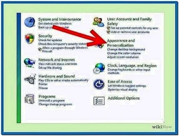 Set Screensaver Windows Vista