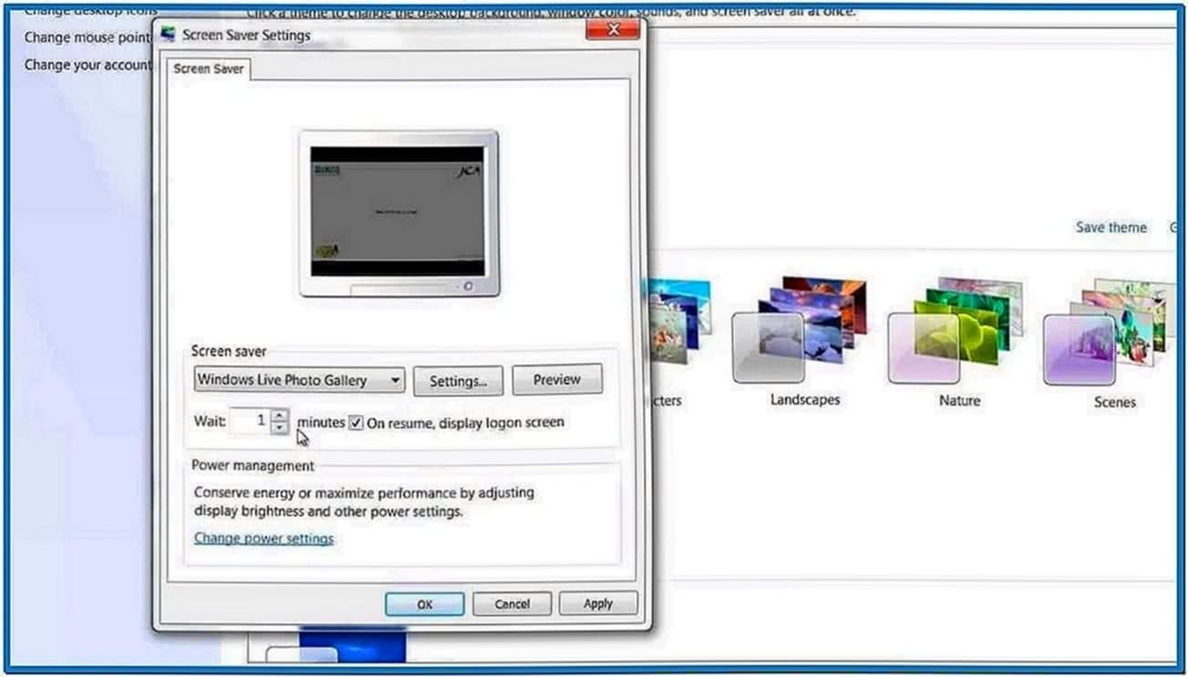 Set Video Screensaver Windows 7