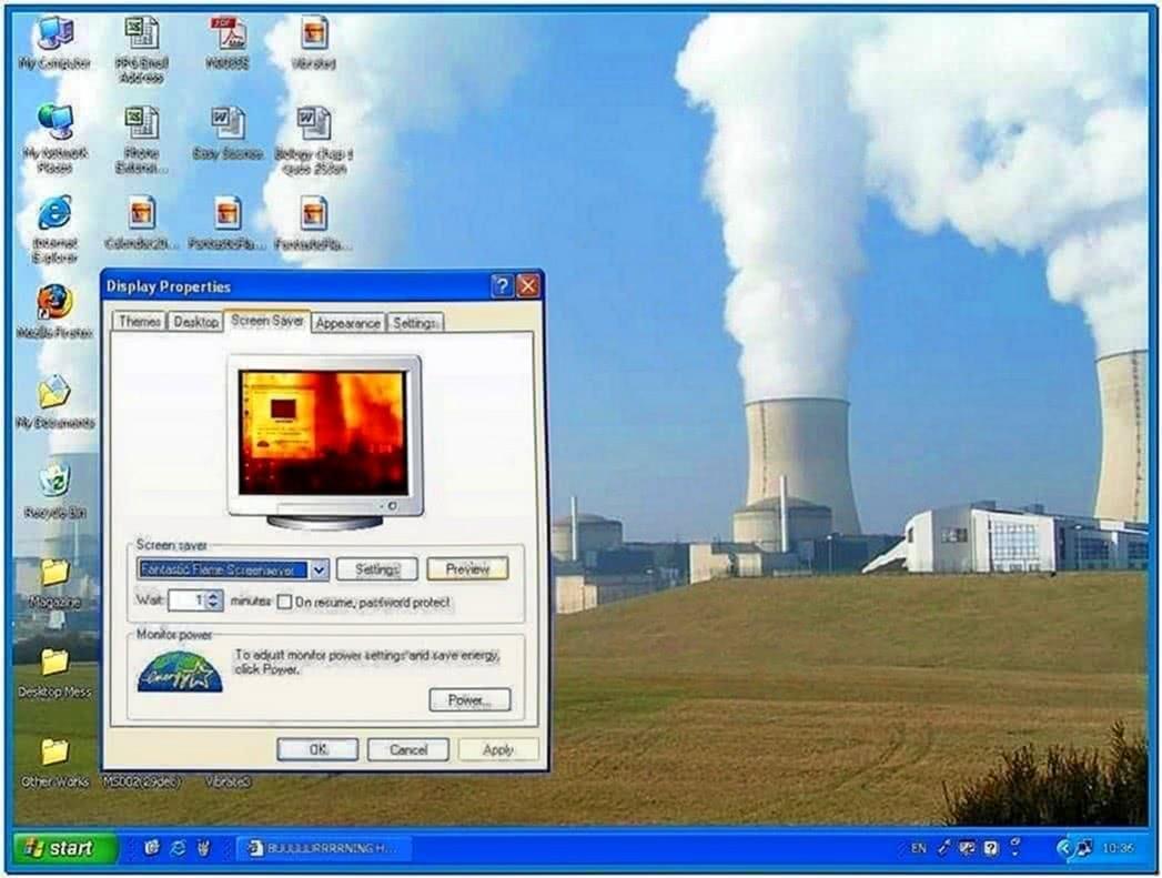 Set Your Desktop on Fire Screensaver