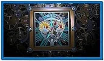 Skeleton clock 3D screensaver
